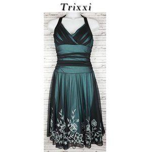 Trixxi  Fit & Flare Halter Dress Size Med